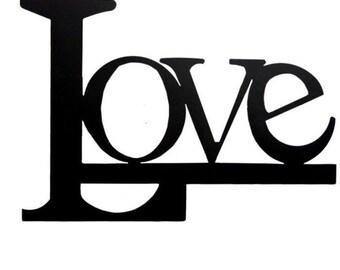 Folded book art 'Love' test pattern