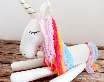 Unicorn soft toy, Unicorn doll, Stuffed Animal, Plush Toy, Unicorn Softie, Unicorn Gift