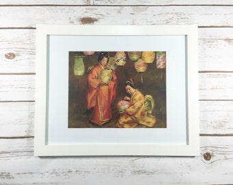 Exquisite 1900s Feast of Lanterns vintage print (National Art Co., New York)