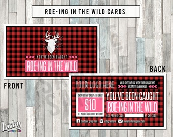 Buffalo Plaid Roe-ing In The Wild Cards - 2 Sided - For your business