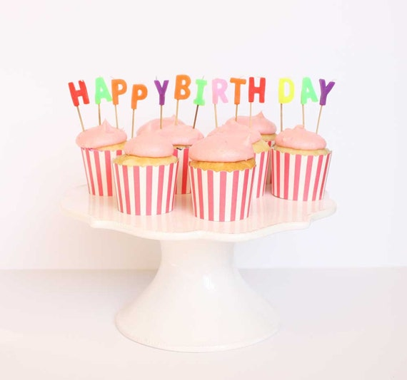 HAPPY BIRTHDAY Letter Candles Birthday Candles Happy