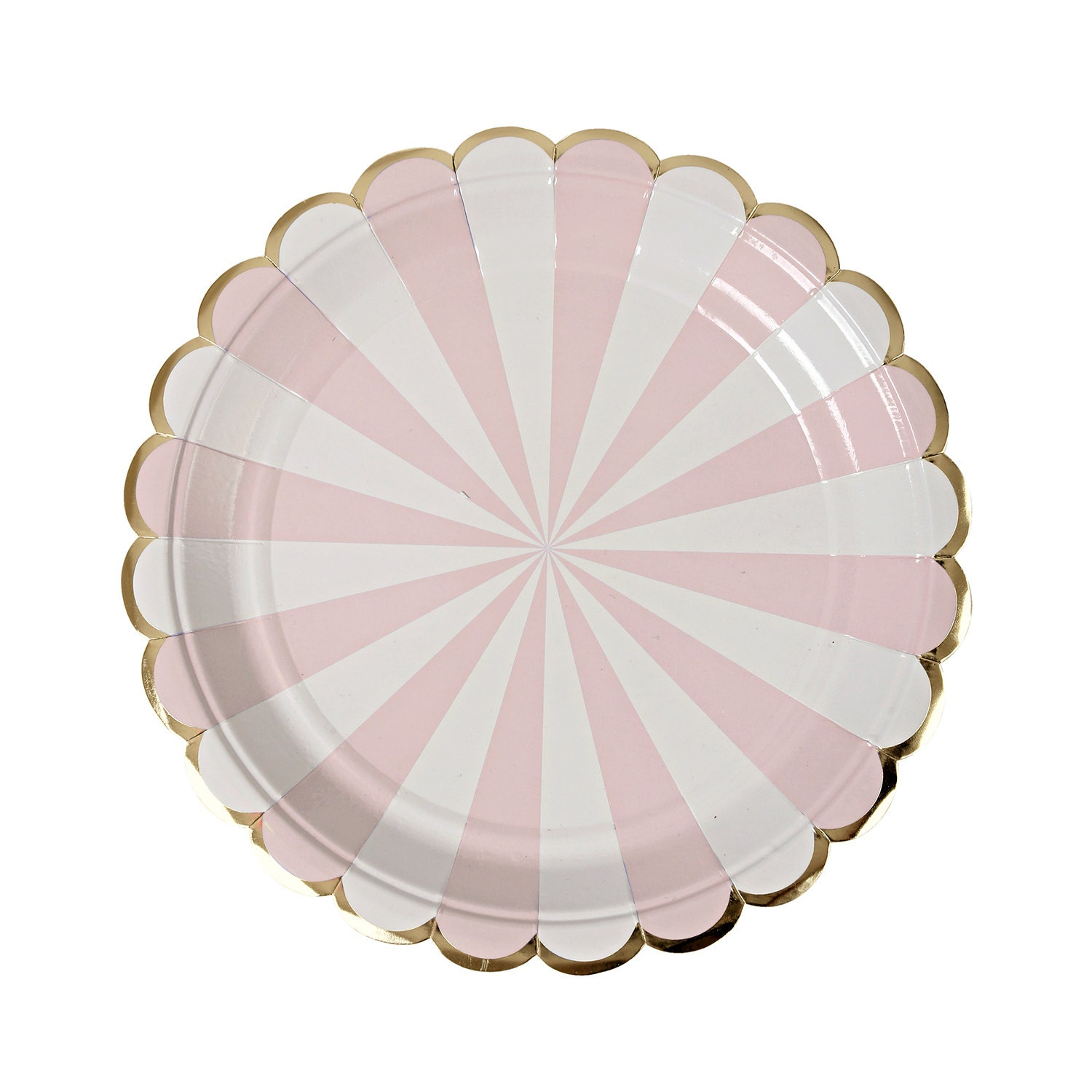 $5.45  sc 1 st  Etsy Studio & Pink and gold paper plates. Set of 8. Dusty pink SMALL dessert ...