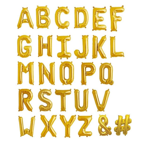 oh baby gold balloon letter kit 16 gold mylar letter balloons baby shower garland baby shower balloons gender reveal party balloon