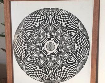 Mandala Art - Fractal Flower