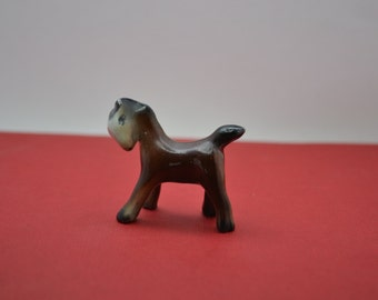 Vintage Foal Horse Ornament. Desk Companion. Horse Lovers Gift. Pottery. Tiny.