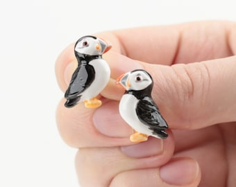 Bird Earrings Puffin Earrings Puffin Bird Earrings Animal Lover Gifts Puffin Gift