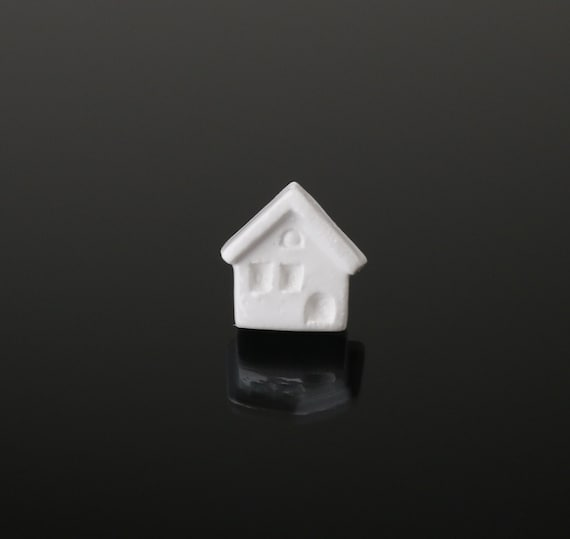 Tiny House Ceramic Brooch White House Jewelry White Home Etsy