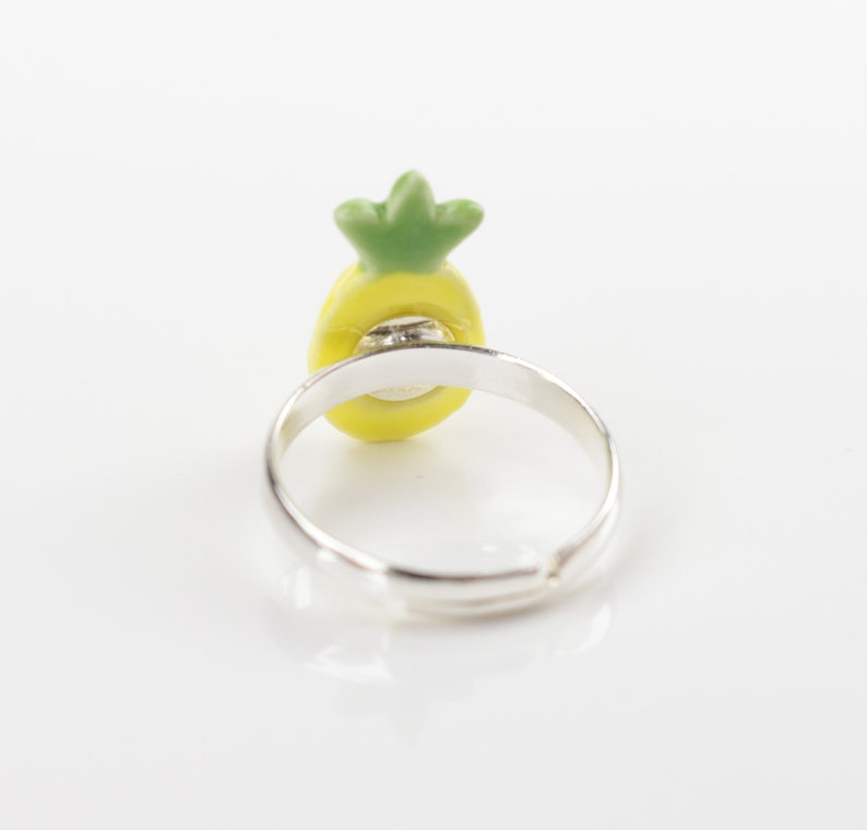 Pineapple ceramic ring Tropical fruit Jewelry gift pineapples ring fashion jewelry Jungle Party Pineapple band Wedding ring Kids jewelry