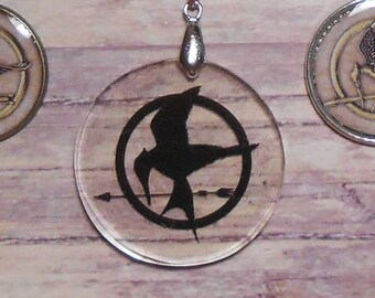 Hunger Games Mockingjay Necklaces - Transparent - See Through  (NOT OFFICIAL MERCHANDISE)