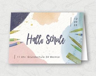 School introduction / enrollment | Invitation card | Personalized
