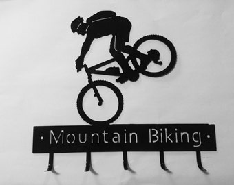 Mountain Bike Medal Hanger available in male and female versions