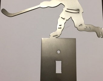Hockey Light Switch Cover Available in single and double toggle and decora in both male and female