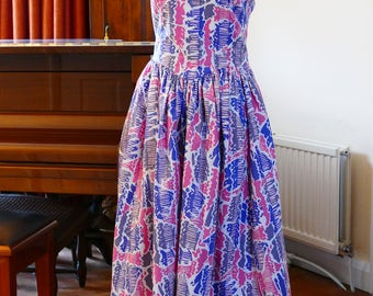Beautiful Vintage Laura Ashley Spring and Summer Dress and Jacket.  Country Weddings. Garden Parties.