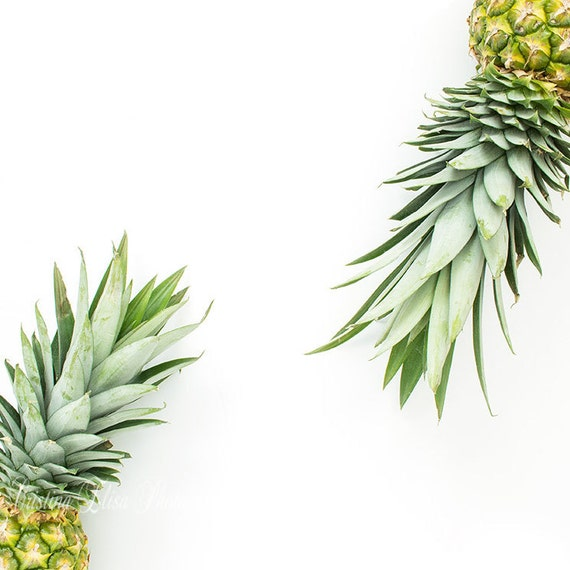 Pineapple Styled Stock Photography White Background Etsy