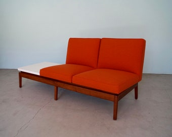 Beautiful Mid Century Modern Sofa Bench Refinished U0026 Reupholstered   Knoll  Inspired!