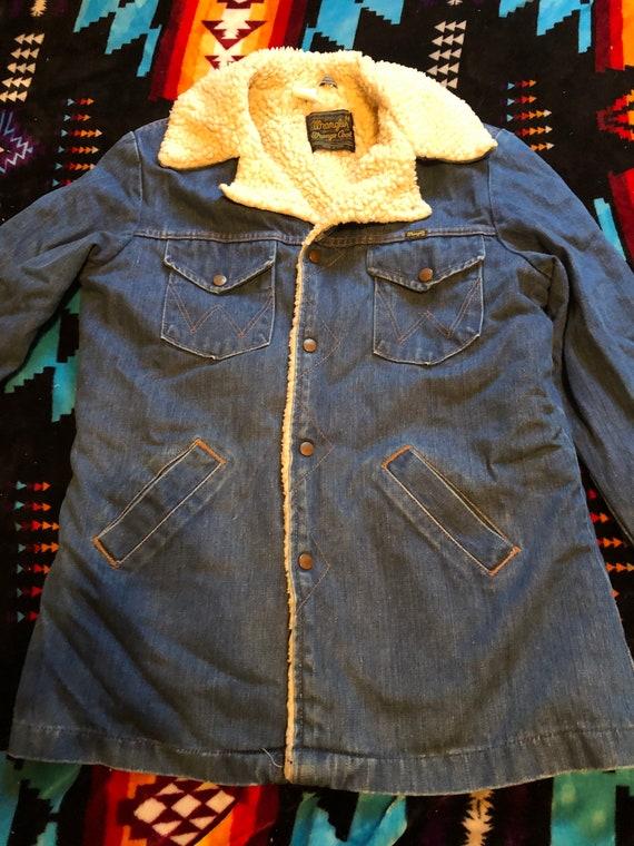 Vintage Wrangler shearling jacket