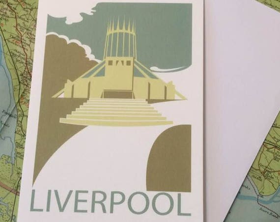Metropolitan - Cathedral - Liverpool - greetings card - church - Catholic