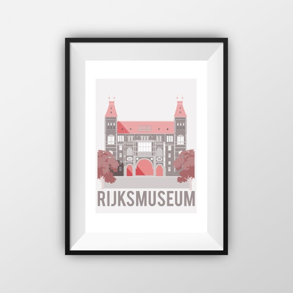 Rijksmuseum - Amsterdam - Travel Poster - the jones boys