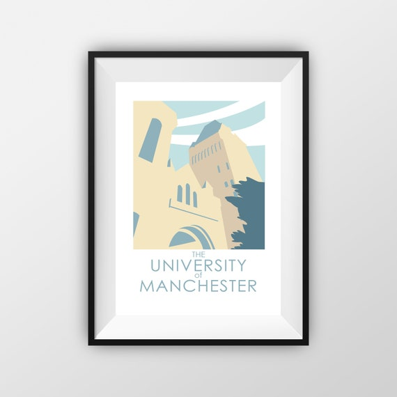 University of Manchester - Manchester - Travel Poster - thejonesboys - the jones boys