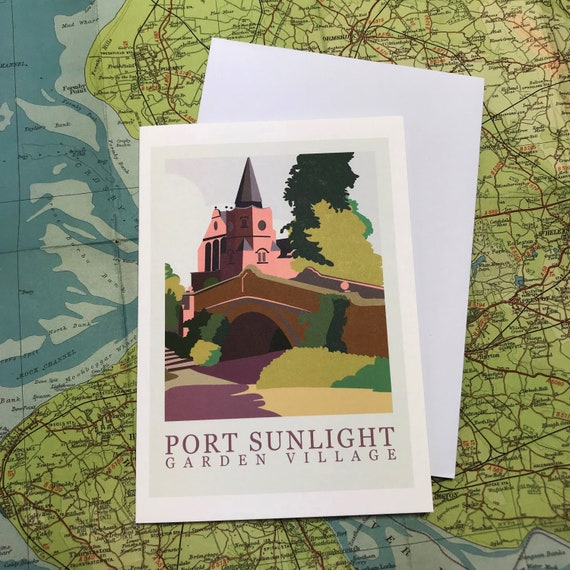 Port Sunlight - Village - Liverpool - greetings card - Wirral - soap