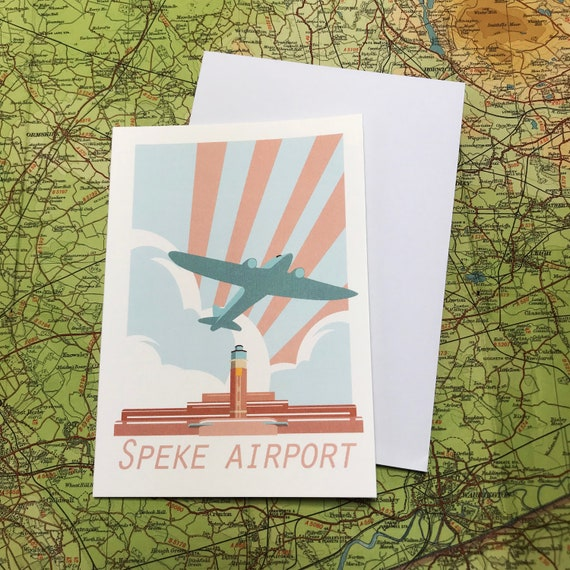 Speke Airport - Liverpool - art deco - greetings card - Wedding - Airplane - travel - the jones boys - thejonesboys - the_jonesboys