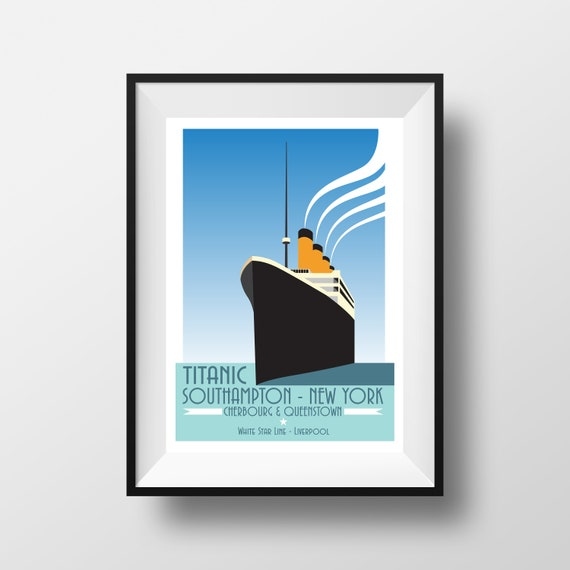 Titanic Print - Travel Print - the jones boys