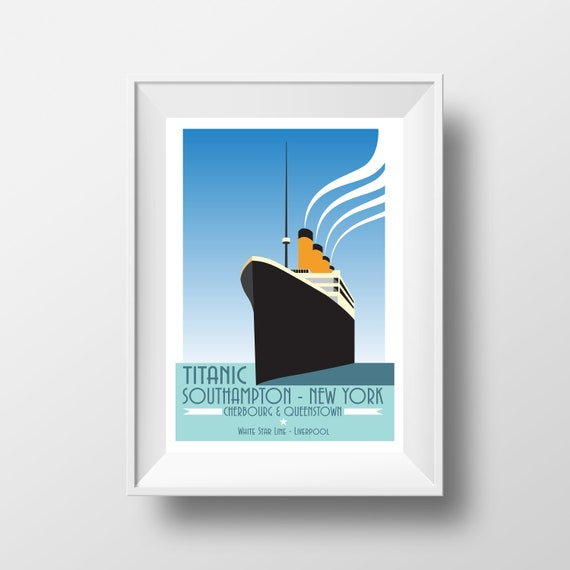 Titanic - Southampton - Landmarks - Travel Poster - the jones boys
