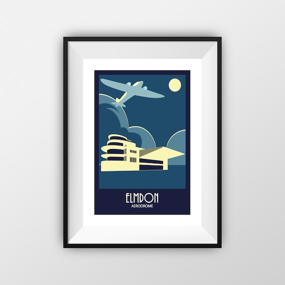 Elmdon Airport - Travel Poster - the jones boys