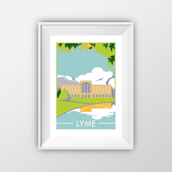 Lyme - Pride and Prejudice - Landmarks - Travel Poster - the jones boys