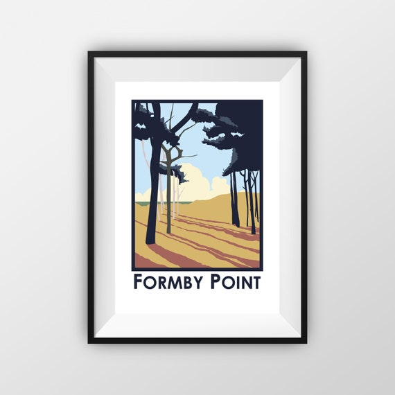 Formby Point - Landmarks - Travel Poster - the jones boys