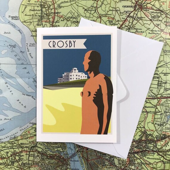 Crosby - Antony Gormley - Liverpool - Mersey - water front - mersey ferry -  greetings card - thejonesboys - the jonesboys