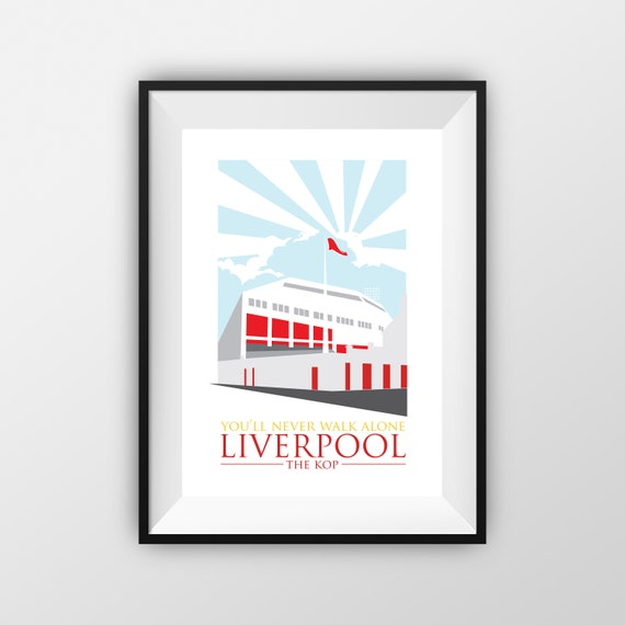 Liverpool Football Club - Landmarks - Travel Poster - Embossed travel poster art print - the jones boys