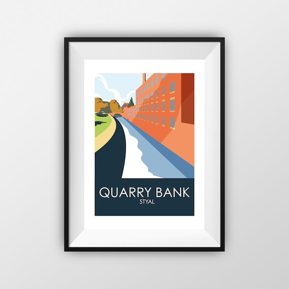 Quarry Bank - Styal - Landmarks - Travel Poster - the jones boys