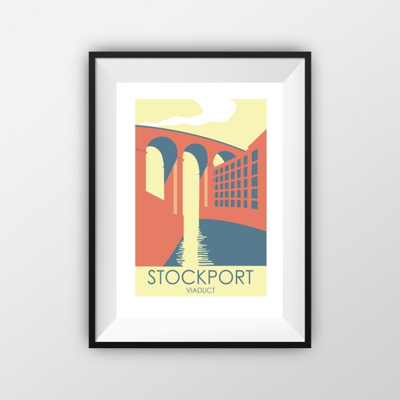 Stockport Viaduct - Travel Poster - the jones boys