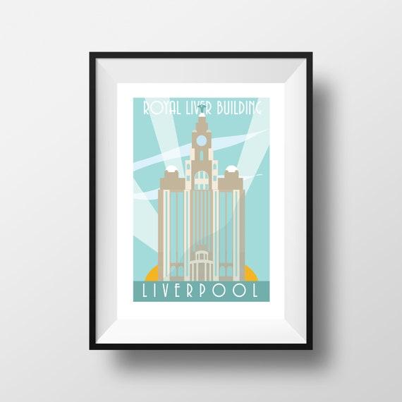 Liver Building - LIverpool Art - thejonesboys - art deco - Liverpool prints - the jones boys
