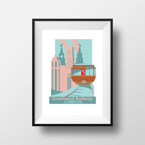 Overhead railway Liverpool - Travel Print - the jones boys