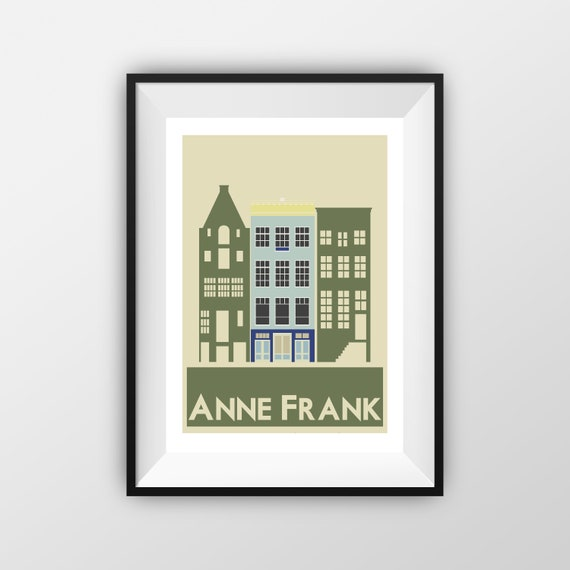 Anne Frank - Amsterdam - Travel Poster - the jones boys