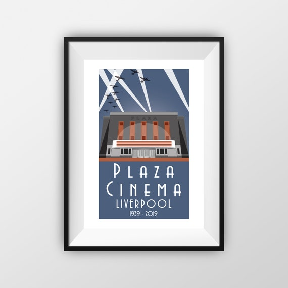Plaza Cinema Liverpool 80th - Landmarks - Travel Poster - the jones boys