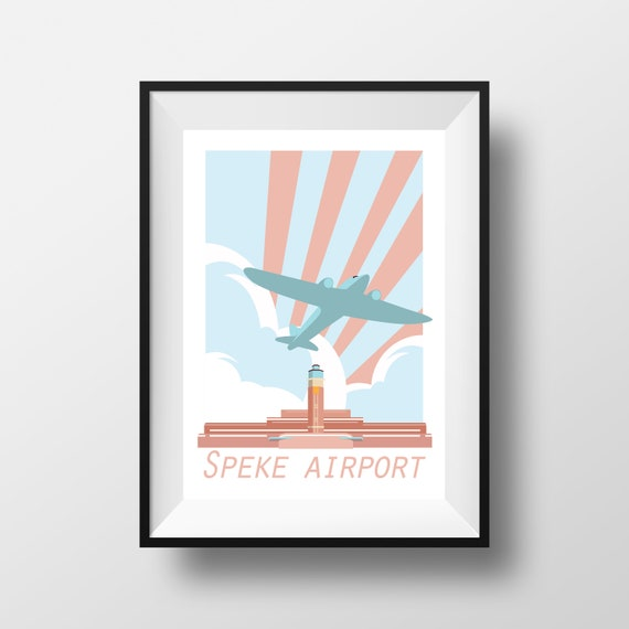 Speke Airport, Liverpool, Vintage travel, Aeroplane, thejonesboys, Art Deco