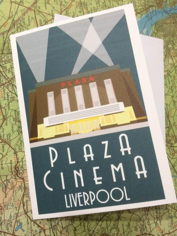 Plaza - Art Deco - Cinema - Plaza - greetings card - Crosby - Waterloo - the jones boys - thejonesboys - the_jonesboys - Liverpool