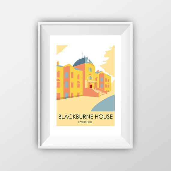 Blackburne House Liverpool - Travel Print - the jones boys