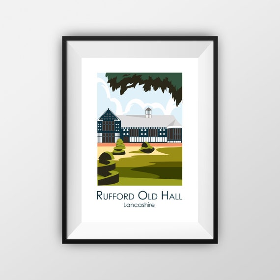 Rufford Old Hall - Travel Poster - the jones boys
