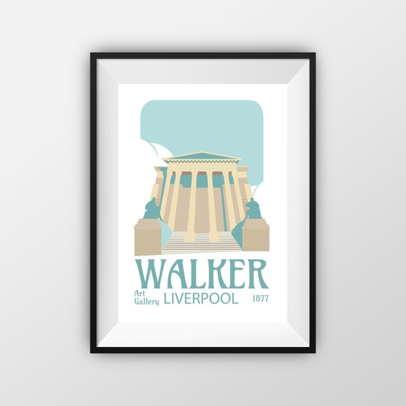 Walker Art Gallery - Liverpool - Landmarks - Travel Poster - the jones boys