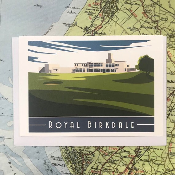Royal Birkdale - Liverpool - heritage - greetings card - Southport - Birkdale - Golf