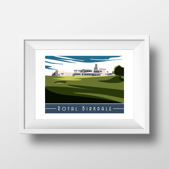 Royal Birkdale - Landmarks - Travel Poster - Embossed travel poster art print - the jones boys