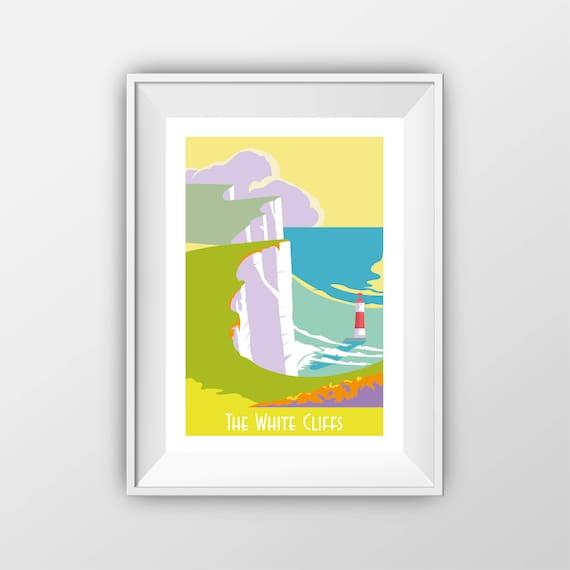 The White Cliffs - Travel Print - the jones boys