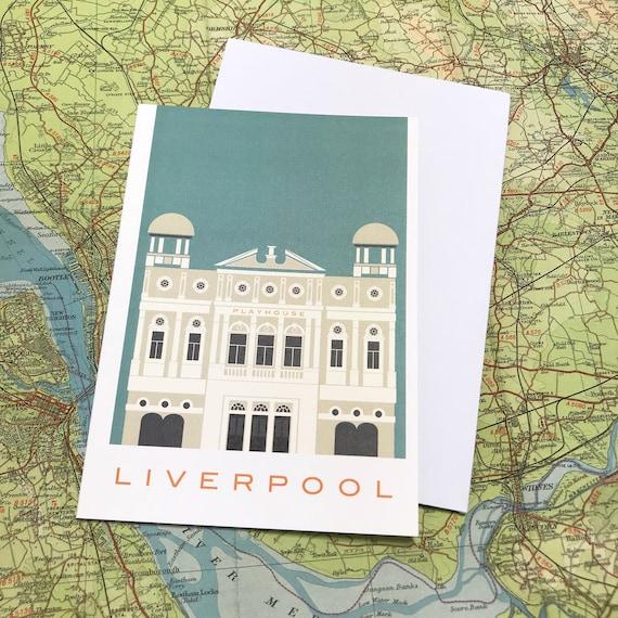 Playhouse - neo classical - theatre - Liverpool - greetings card - the jones boys - thejonesboys - the_jonesboys