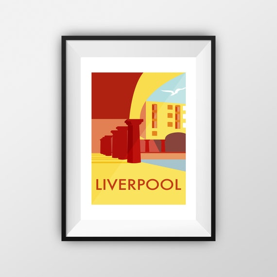 Royal Albert Dock Print - Travel Poster - the jones boys
