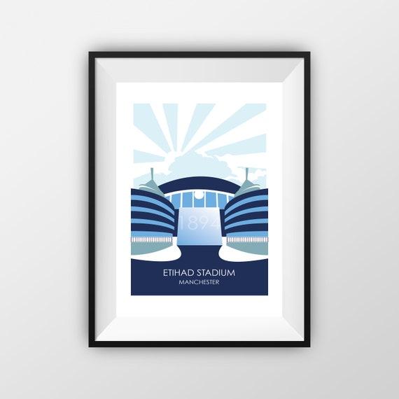 Etihad Stadium - Manchester City FC  - Travel Poster, thejonesboys - the jones boys
