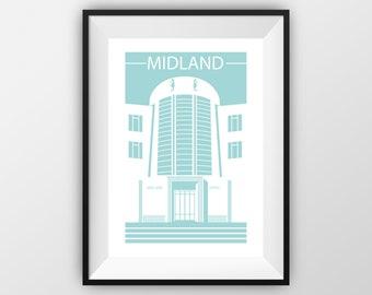 Midland Hotel - Travel Print - the jones boys